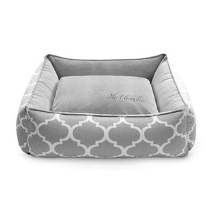 Marocco  Pet Bed Plus by Oh Charlie - Grey Dog Beds Bed Type_Soft Beds, Brand_Oh Charlie, Color_Grey, Size_Large, Size_Medium Oh Charlie