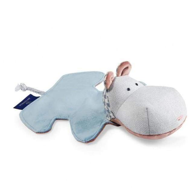 Mr. Hippo Toy by Oh Charlie - Blue/Pink/Grey