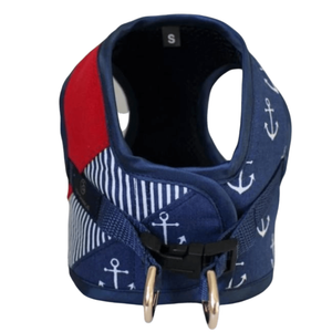 Oh Charlie North Star Harnesses by Oh Charlie - Navy Blue/Red PetsOwnUs - Pets Own Us