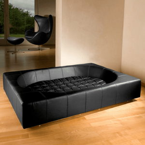 Pet Interiors Luxury Dog Bed Small / Black Cube Faux Leather Luxury Dog Bed By Pet Interiors PetsOwnUs - Pets Own Us