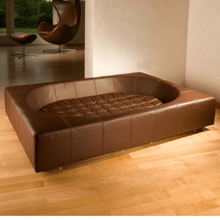 Pet Interiors Luxury Dog Bed Small / Brown Cube Leather Luxury Dog Bed By Pet Interiors PetsOwnUs - Pets Own Us