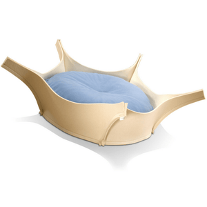 Pet Interiors Dog Beds Blue Harry Orthopedic Pet Bed - Cream Felt PetsOwnUs - Pets Own Us