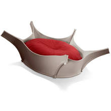 Pet Interiors Dog Beds Red Harry Orthopedic Pet Bed - Grey Felt PetsOwnUs - Pets Own Us