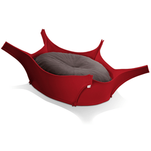 Pet Interiors Dog Beds Graphite Harry Orthopedic Pet Bed - Red Felt PetsOwnUs - Pets Own Us