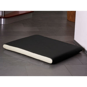 Pet Interiors Dog Beds Medium / Cream Memory Foam Dog Mattress in Black Faux Leather PetsOwnUs - Pets Own Us