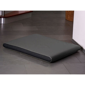Pet Interiors Dog Beds Medium / Anthracite Memory Foam Dog Mattress in Grey Faux Leather PetsOwnUs - Pets Own Us