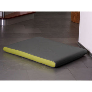 Pet Interiors Dog Beds Medium / Pea Green Memory Foam Dog Mattress in Grey Faux Leather PetsOwnUs - Pets Own Us