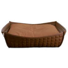Pet Interiors Dog Beds Xtra Small / Caramel Orthopedic Dog Bed By Pet Interiors- Brown Leather Bowl PetsOwnUs - Pets Own Us