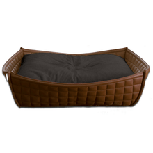 Pet Interiors Dog Beds Xtra Small / Graphite Orthopedic Dog Bed By Pet Interiors- Brown Leather Bowl PetsOwnUs - Pets Own Us