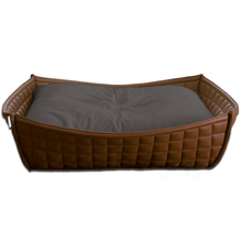 Pet Interiors Dog Beds Xtra Small / Grey Orthopedic Dog Bed By Pet Interiors- Brown Leather Bowl PetsOwnUs - Pets Own Us