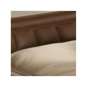 Orthopedic Dog Bed By Pet Interiors- Brown Leather Bowl - PetsOwnUs