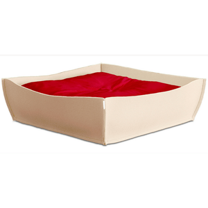 Pet Interiors Dog Beds Red Orthopedic Dog Bed by Pet Interiors - Cream Felt Bowl PetsOwnUs - Pets Own Us