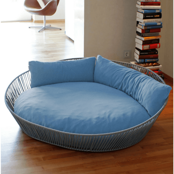 Pet Interiors Dog Bed Large / Blue Orthopedic Dog Bed, The Siro Twist By Pet Interiors PetsOwnUs - Pets Own Us