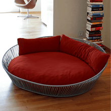 Pet Interiors Dog Bed Large / Red Orthopedic Dog Bed, The Siro Twist By Pet Interiors PetsOwnUs - Pets Own Us