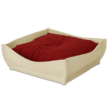 Pet Interiors Luxury Pet Bed Small / Red Orthopedic Pet Bed By Pet Interiors - Cream Felt Bowl PetsOwnUs - Pets Own Us