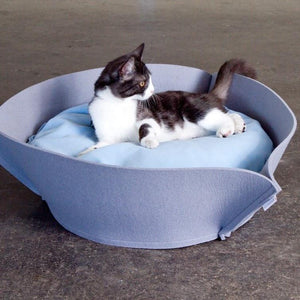 Pet Interiors Cat & Dog Bed Cream / Cream / Small 70 x 70cm Orthopedic Pet Bed By Pet Interiors- Nook Felt PetsOwnUs - Pets Own Us