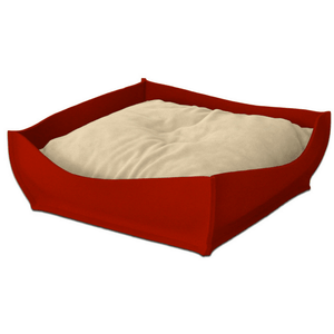Pet Interiors Orthopedic Pet Beds Xtra Small / Cream Orthopedic Pet Bed By Pet Interiors - Red Felt Bowl PetsOwnUs - Pets Own Us