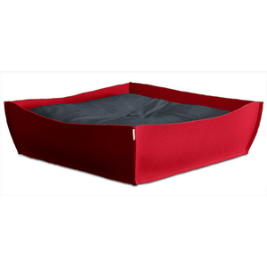 Pet Interiors Orthopedic Pet Beds Xtra Small / Graphite Orthopedic Pet Bed By Pet Interiors - Red Felt Bowl PetsOwnUs - Pets Own Us
