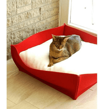 Pet Interiors Orthopedic Pet Beds Xtra Small / Grey Orthopedic Pet Bed By Pet Interiors - Red Felt Bowl PetsOwnUs - Pets Own Us