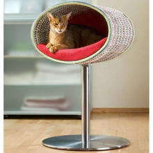Pet Interiors Cat Beds Cream Rondo Crochet Cat Cave Stand by Pet Interiors PetsOwnUs - Pets Own Us