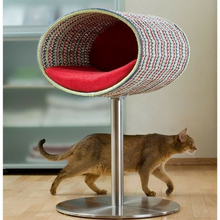 Pet Interiors Cat Beds Red Rondo Crochet Cat Cave Stand by Pet Interiors PetsOwnUs - Pets Own Us