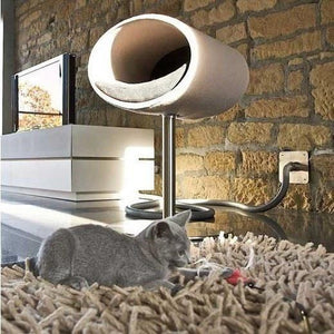 Pet Interiors Cat Beds Cream / Cream Rondo Felt Cat Cave Stand by Pet Interiors PetsOwnUs - Pets Own Us