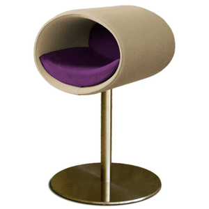 Pet Interiors Cat Beds Cream / Violet Rondo Felt Cat Cave Stand by Pet Interiors PetsOwnUs - Pets Own Us