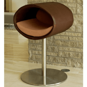 Pet Interiors Cat Beds Brown / Caramel Rondo Leather Cat Cave Stand by Pet Interiors- Brown Leather PetsOwnUs - Pets Own Us