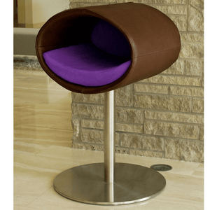 Pet Interiors Cat Beds Brown / Violet Rondo Leather Cat Cave Stand by Pet Interiors- Brown Leather PetsOwnUs - Pets Own Us
