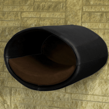 Pet Interiors Cat Beds Black / Dark Brown Rondo Wall Cat Faux Leather Cave by Pet Interiors PetsOwnUs - Pets Own Us