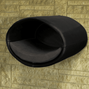 Pet Interiors Cat Beds Black / Graphite Rondo Wall Cat Faux Leather Cave by Pet Interiors PetsOwnUs - Pets Own Us