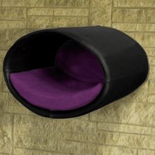 Pet Interiors Cat Beds Black / Violet Rondo Wall Cat Faux Leather Cave by Pet Interiors PetsOwnUs - Pets Own Us