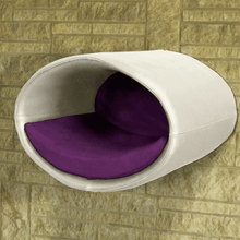 Pet Interiors Cat Beds Cream / Violet Rondo Wall Cat Faux Leather Cave by Pet Interiors PetsOwnUs - Pets Own Us