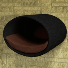 Pet Interiors Cat Beds Anthracite / Dark Brown Rondo Wall Cat Felt Cave by Pet Interiors PetsOwnUs - Pets Own Us