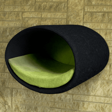 Pet Interiors Cat Beds Anthracite / Pea Green Rondo Wall Cat Felt Cave by Pet Interiors PetsOwnUs - Pets Own Us