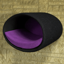 Pet Interiors Cat Beds Anthracite / Violet Rondo Wall Cat Felt Cave by Pet Interiors PetsOwnUs - Pets Own Us