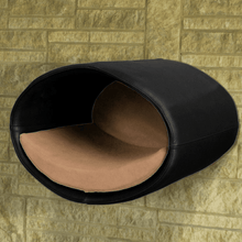 Pet Interiors Cat Beds Black / Caramel Rondo Wall Cat Leather Cave by Pet Interiors PetsOwnUs - Pets Own Us