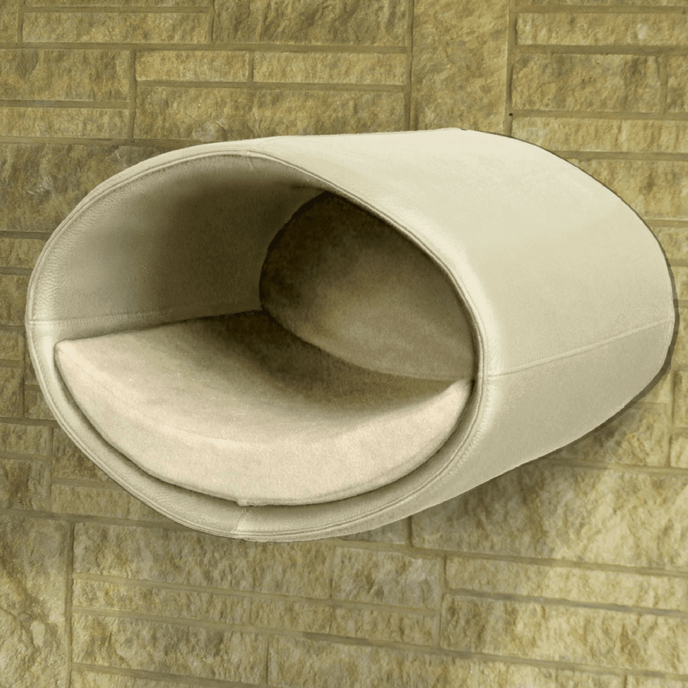 Pet Interiors Cat Beds Cream / Cream Rondo Wall Cat Leather Cave by Pet Interiors PetsOwnUs - Pets Own Us