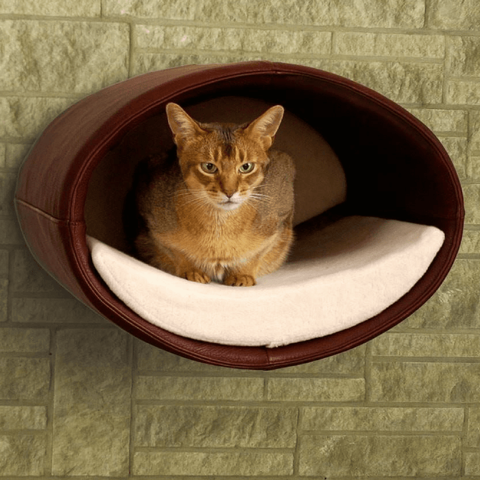 Rondo Wall Cat Leather Cave by Pet Interiors