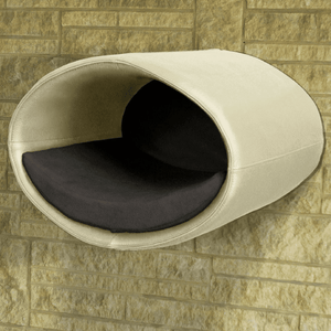 Pet Interiors Cat Beds Cream / Graphite Rondo Wall Cat Leather Cave by Pet Interiors PetsOwnUs - Pets Own Us