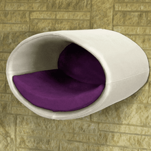 Pet Interiors Cat Beds Cream / Violet Rondo Wall Cat Leather Cave by Pet Interiors PetsOwnUs - Pets Own Us