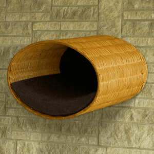 Pet Interiors Cat Beds Graphite Rondo Wall Cat Wicker Cave by Pet Interiors PetsOwnUs - Pets Own Us