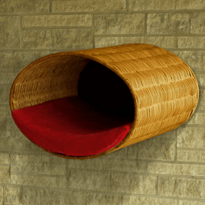 Pet Interiors Cat Beds Red Rondo Wall Cat Wicker Cave by Pet Interiors PetsOwnUs - Pets Own Us