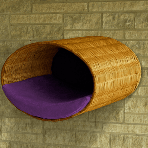 Pet Interiors Cat Beds Violet Rondo Wall Cat Wicker Cave by Pet Interiors PetsOwnUs - Pets Own Us