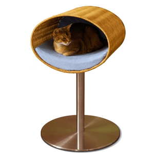 Pet Interiors Cat Beds Blue Rondo Wicker Cat Cave Stand by Pet Interiors PetsOwnUs - Pets Own Us
