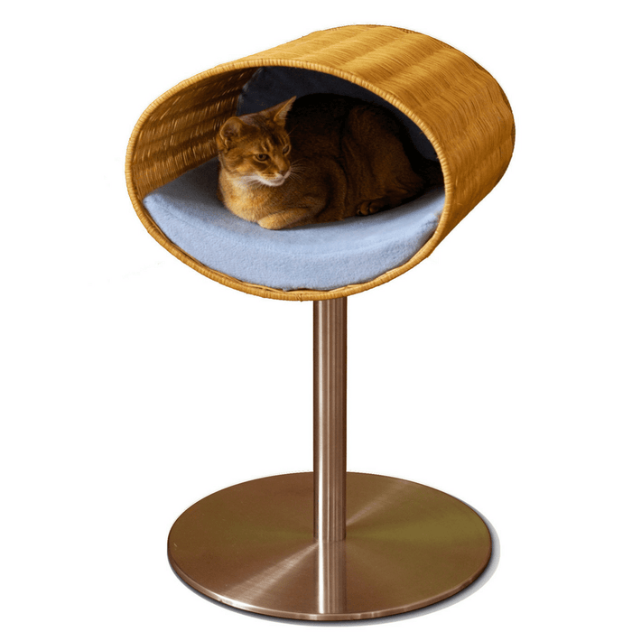 Rondo Wicker Cat Cave Stand by Pet Interiors