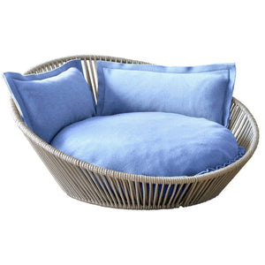 Pet Interiors Pet Bed Small / Blue The Siro Twist By Pet Interiors - Large Orthopaedic Dog Bed PetsOwnUs - Pets Own Us