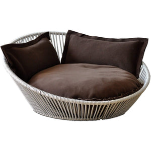 Pet Interiors Pet Bed Small / Brown The Siro Twist By Pet Interiors - Large Orthopaedic Dog Bed PetsOwnUs - Pets Own Us