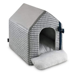 PetsOwnUs One Size / Grey Luxury Glamour Doghouse by Oh Charlie - Grey PetsOwnUs - Pets Own Us