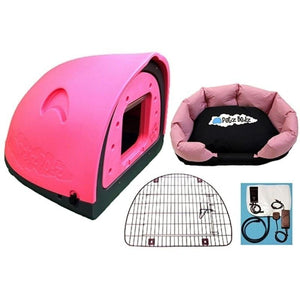 Petz Podz Pet carriers & crates Medium / Pink Luxury Revolution MultiPack Dog Den (incl. bed, flap & heated blanket) - by PetzPodz PP-00003 PetsOwnUs - Pets Own Us